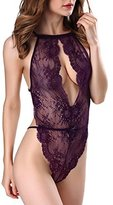 OnlyFuns Sexy Lingerie for Women Teddy One Piece Lace Babydoll Bodysuit M