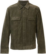 Vince suede jacket - men - Suede/Polyester/Viscose - S
