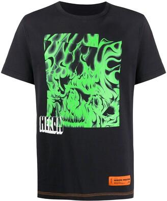 Heron Preston crew neck abstract print T-shirt