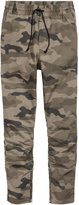 H&M Cotton Twill Joggers - Khaki green/patterned - Men