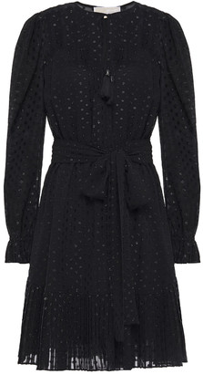 MICHAEL Michael Kors Belted Fil Coupe Georgette Mini Dress