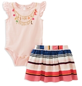 Kate Spade Girls' How Charming Bodysuit & Skirt Set - Baby