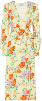 Dries Van Noten Floral jacquard wrap dress
