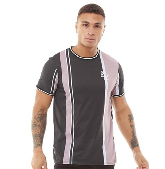 Closure London Mens Signature Stripe T-Shirt Dark Neutral Stripe