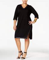 MBLM by Tess Holliday Trendy Plus Size Studded Dress