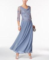 J Kara Beaded A-Line Gown