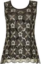 Izabel London Floral Sequin Top