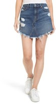 7 For All Mankind Women's Denim Miniskirt