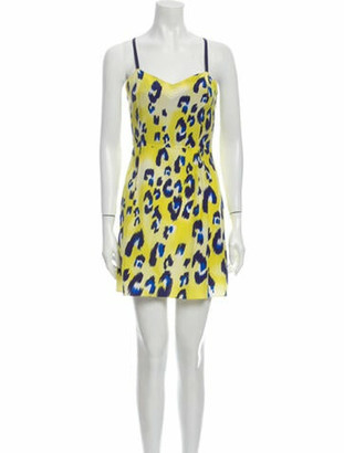 Matthew Williamson Silk Mini Dress Yellow