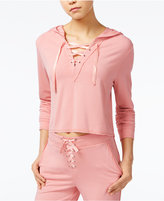 Material Girl Juniors' Lace-Up Hoodie, Only at Macy's