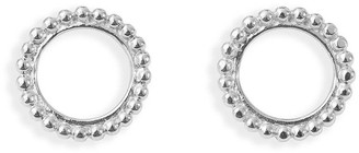 Agnes de Verneuil Small Circle Pearled Earrings - Silver