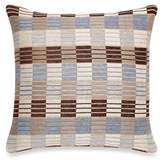 Make-Your-Own-Pillow Stripes and Ladder Square Throw Pillow Cover in Blue