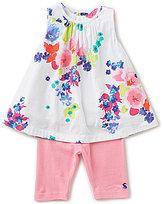 Joules Baby/Little Girls 12 Months-3T Delilah Floral-Print Tank & Leggings Set