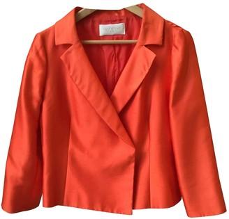 Valentino Garavani Orange Silk Jackets