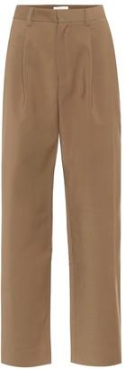 Deveaux Nicola high-rise straight pants