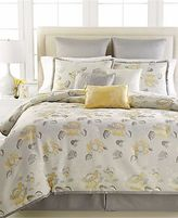 Martha Stewart Somerset Peony 9 Piece Queen Comforter Set Grey/multi T207