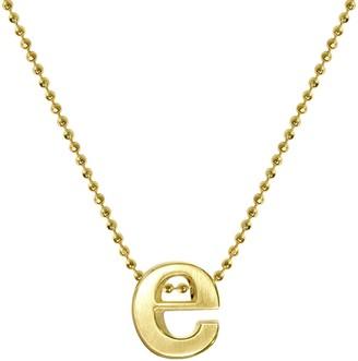 """Alex Woo Women's""""Little Letter"""" 14ct Yellow Gold E Pendant Necklace of 40cm"""