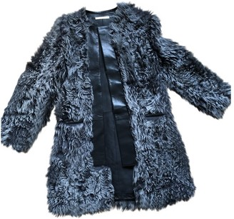Balenciaga Grey Shearling Coat for Women