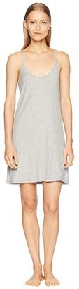 Skin Pima Cotton Slip 34 Length (Heather Grey) Women's Pajama