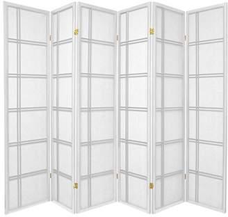 Oriental Furniture 6 ft. Tall Double Cross Shoji Screen - - 6 Panels