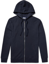 Schiesser - Anton Waffle-knit Cotton And Linen-blend Zip-up Hoodie