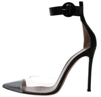 Gianvito Rossi PVC & Leather Pumps