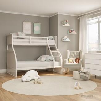 VIP Furniture of America Danette Twin Over Full Bunk Bed, White