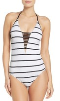Seafolly Women's Castaway Stripe One-Piece Swimsuit