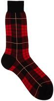 Alexander Mcqueen Tartan Red Cotton Blend Socks
