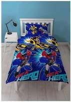 Transformers Hero Single Duvet Cover Set