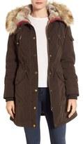 1 Madison Parka with Faux Fur Trim Hood