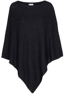 Tif Tiffy - Anthracite Wool Pulse Poncho - wool | anthracite