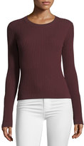 Alexander Wang Crewneck Wide-Rib Long-Sleeve Sweater