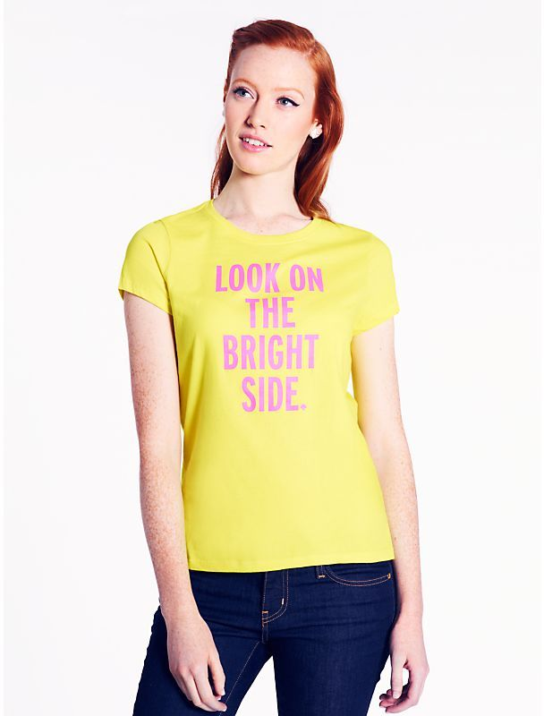 Kate Spade Look on the bright side tee