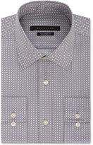 Sean John Men's Grey Triangle-Print Dress Shirt