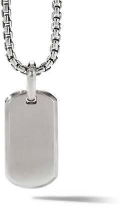 David Yurman The Streamline Collection Sterling Silver Tag Enhancer Pendant