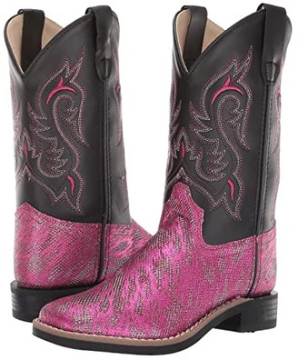 Old West Kids Boots Ashley (Toddler/Little Kid) (Hot Pink) Cowboy Boots