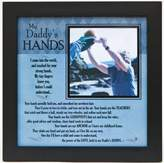 "The Grandparent Gift Co. Grandparent Gifts My Daddy's Hands black wall/table frame Space for photo 8""x8"""