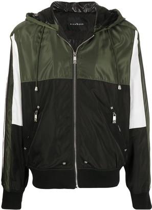 John Richmond Contrast-Panel Hooded Jacket