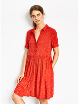 Hush Evangeline Dress, Star Print Racing Red/White
