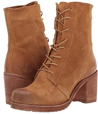 Frye Karen Combat (Black Vegetable Tan Leather) Women's Boots