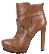 Belstaff Leather Platform Ankle Boots