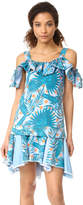 Sjyp Hawaiian Print Denim Dress