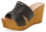 Seychelles Awe Woven Leather Wedge