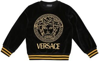 Versace Kids Medusa velour sweatshirt