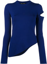 Proenza Schouler knit sweater with slit shoulder
