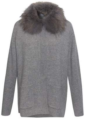 Gerard Darel Sally Cashmere And Raccoon Waistcoat