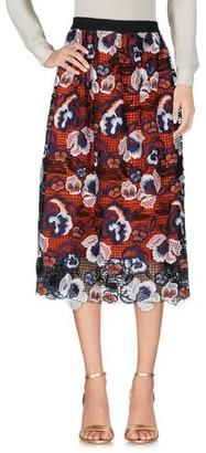 Self-Portrait 3/4 length skirt