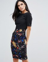 Paper Dolls Pencil Dress With Floral Print