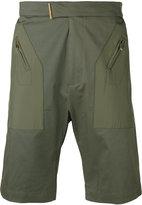 Les Hommes zipped pocket chino shorts - men - Cotton/Spandex/Elastane/Polyester - 46